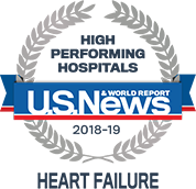 U.S. News and World Report Highest Ranking in Heart Failure