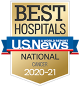 U.S. News Best Hospitals for Cancer Badge 2020 - 2021