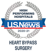 U.S. News High Performing Indicator Heart Bypass U.S. News Badge