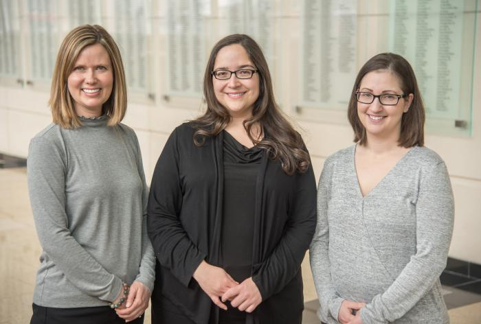 Three female Olson Center physical therapists